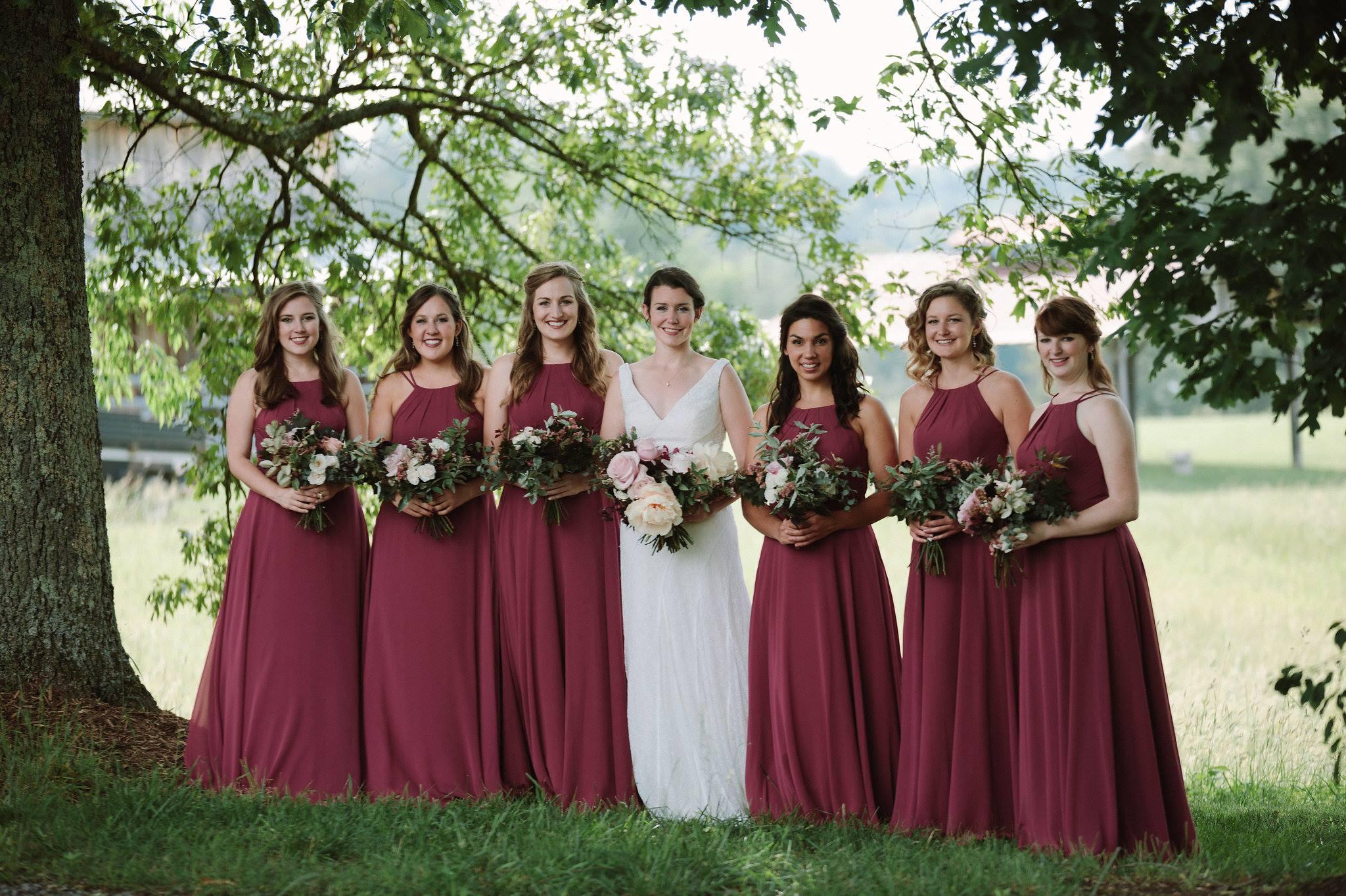Cabernet Bridesmaid Dresses