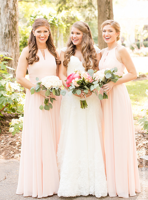 Pearl Pink Bridesmaid Dresses