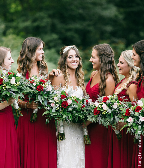 Shop Burgundy Bridesmaid Dresses