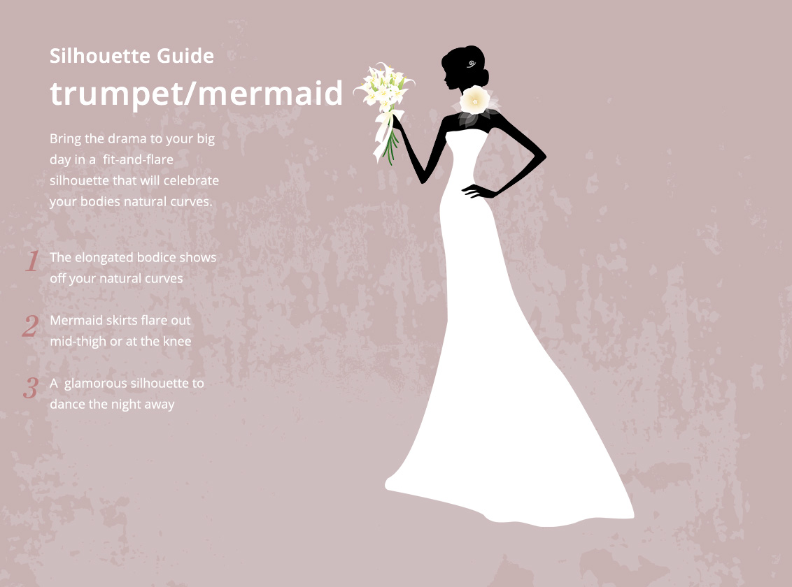 Trumpet Mermaid Wedding Dress Silhouette Style Guide Azazie