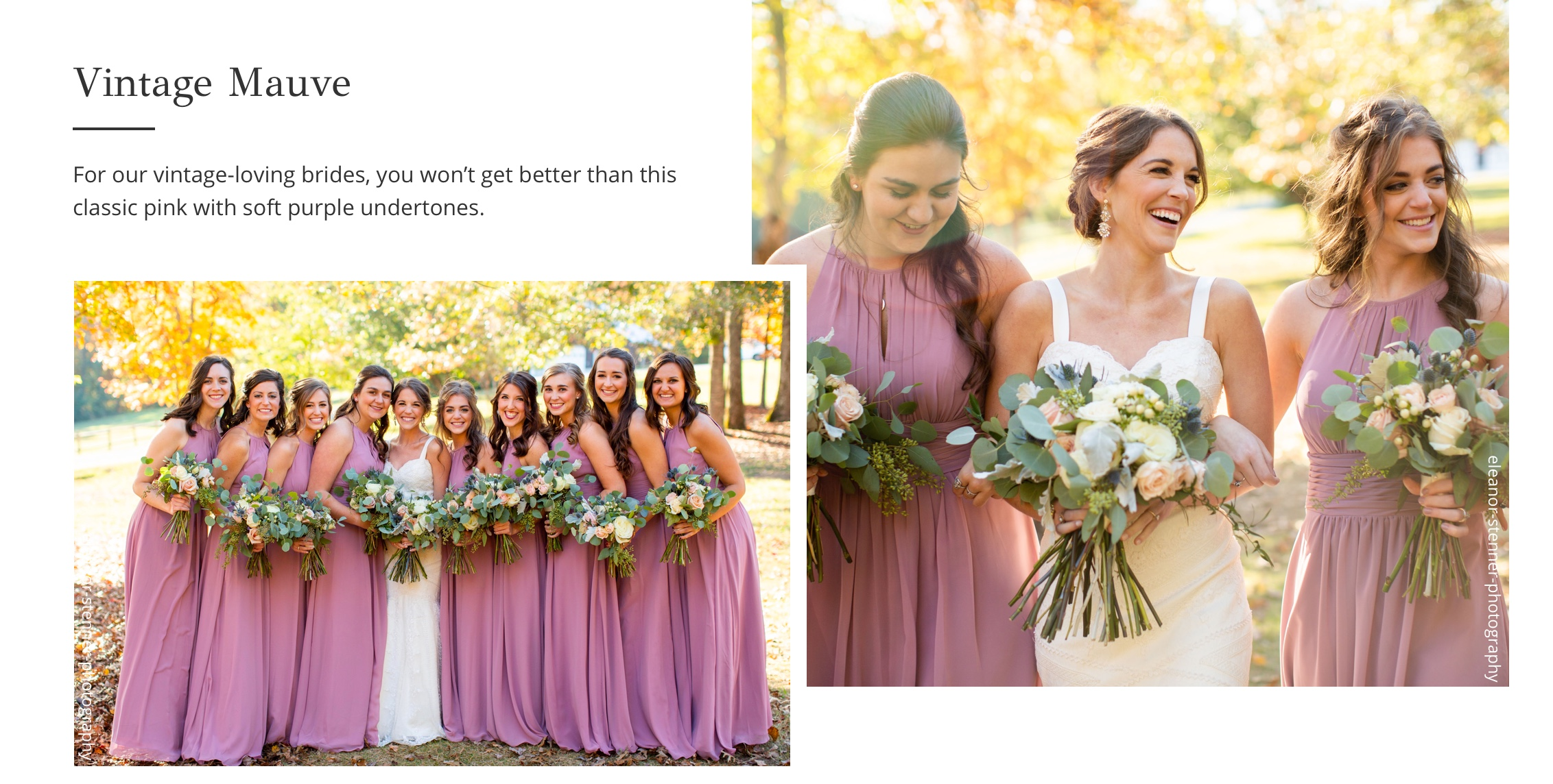 Vintage Mauve Bridesmaid Dresses