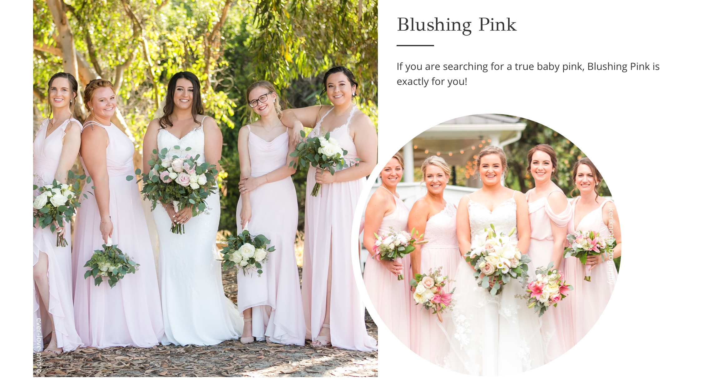 Blushing Pink Bridesmaid Dresses