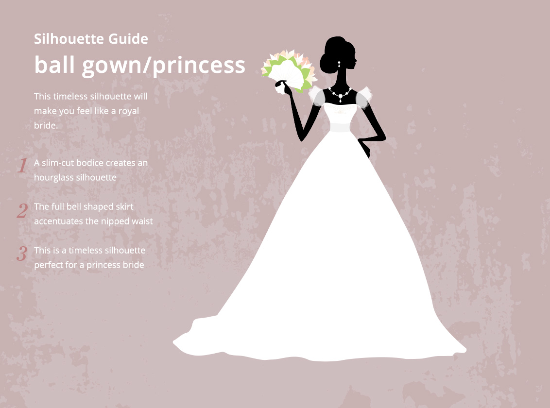 Ball Gown Princess Wedding Dress Silhouette Style Guide