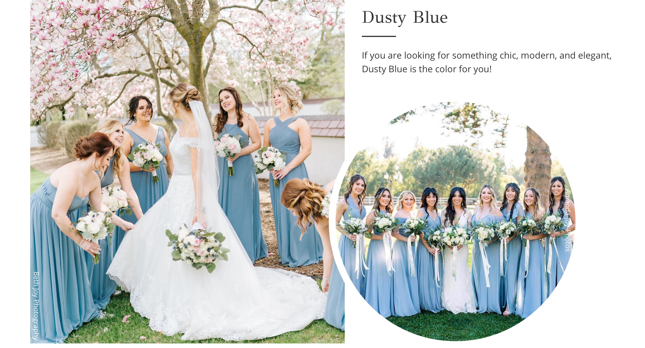 Dusty Blue Bridesmaid Dresses